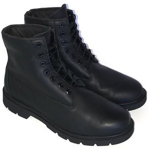 Timberland Waterproof Black Leather Work Boots 11